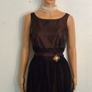 Vintage Style Democracy Dress W/ Tulle and Lace 6